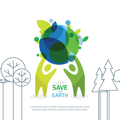 Abstract background for save earth day.