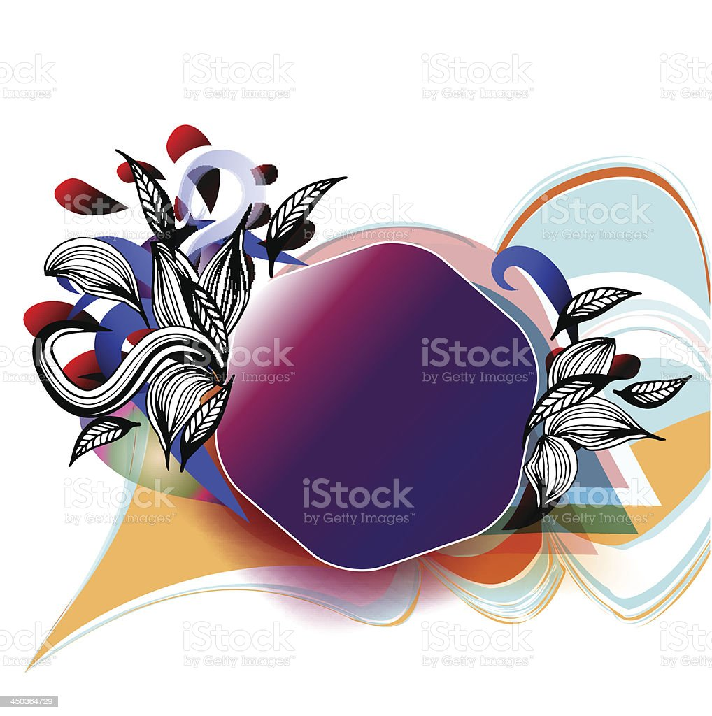 Abstract Background for Text vector art illustration