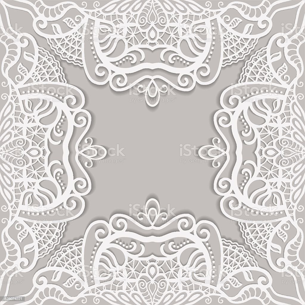 abstract background frame border lace pattern invitation