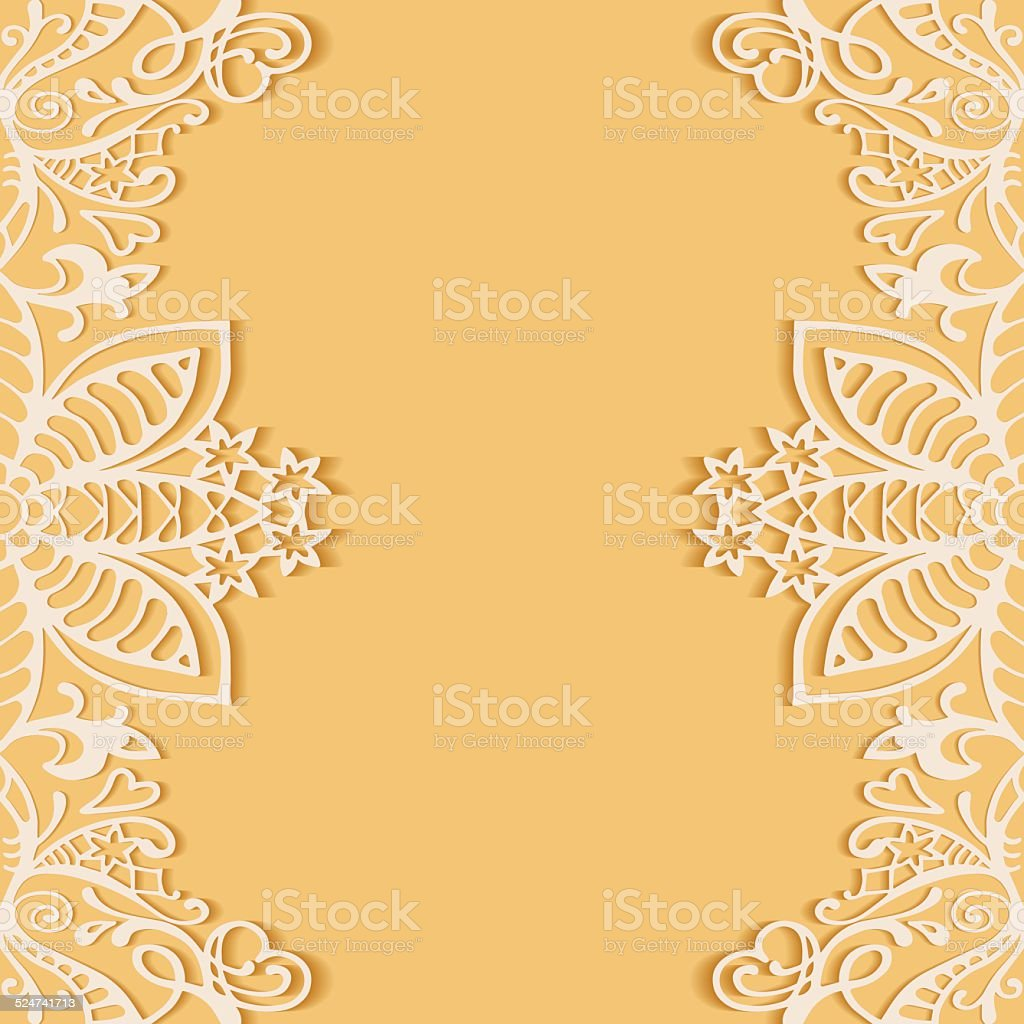 Abstract Background Frame Border Lace Pattern Wedding Invitation ...