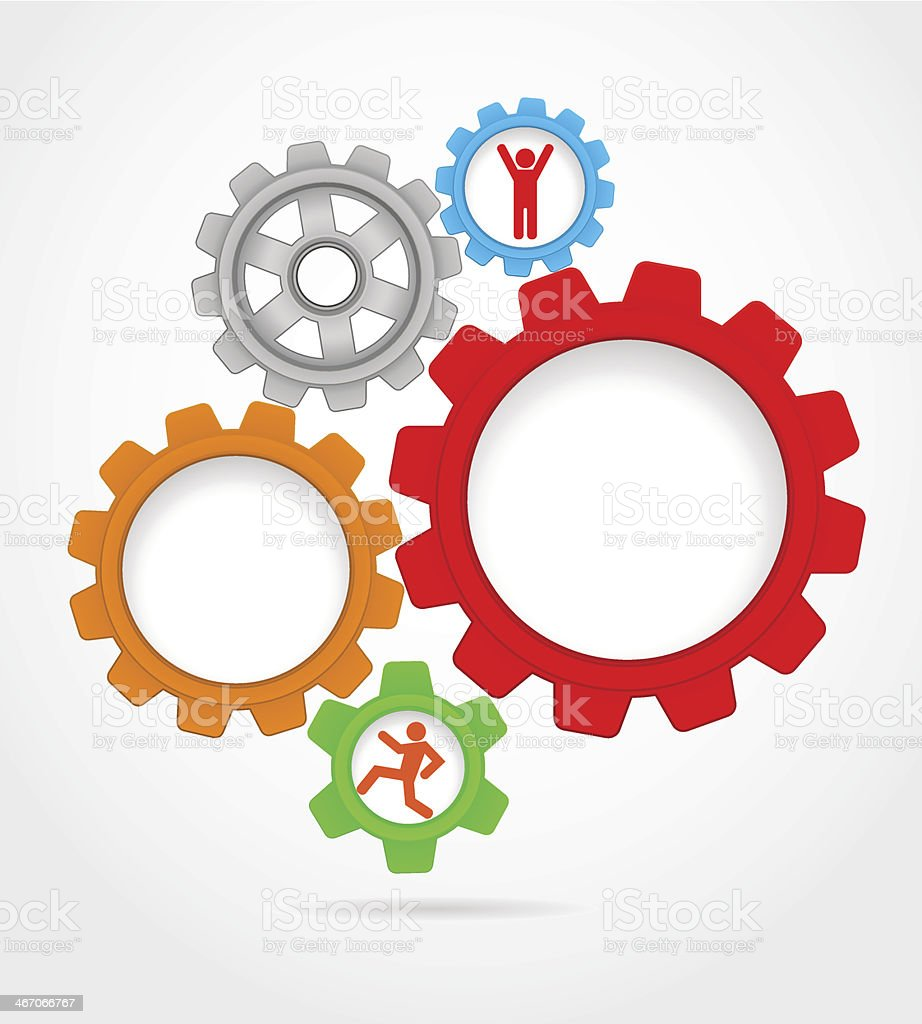Abstract background gears royalty-free stock vector art