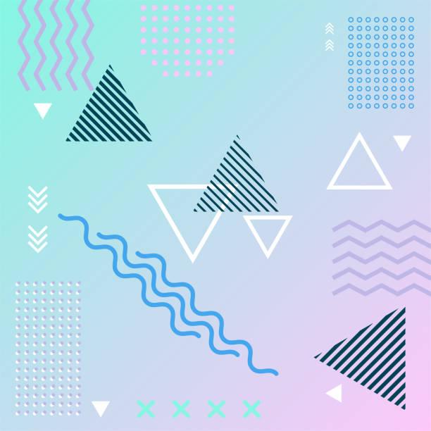ilustrações de stock, clip art, desenhos animados e ícones de abstract   background geometric element. - músico popular