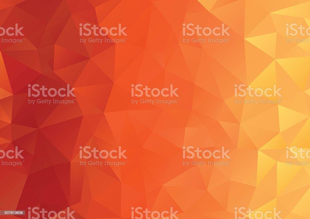 Abstract Background, Geometric, Orange vector art illustration