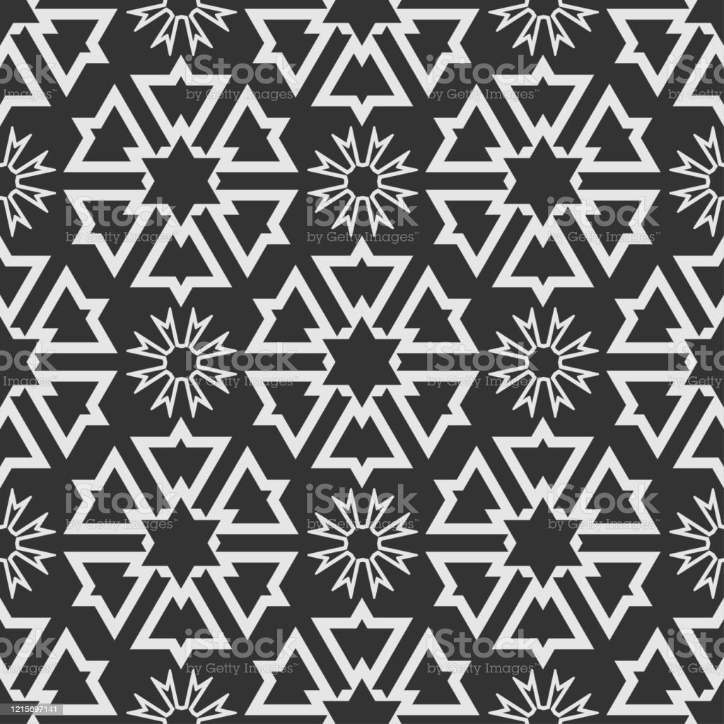 Abstract Background Geometric Vector Pattern Black And White Wallpaper Design Texture Stock Illustration Download Image Now Istock