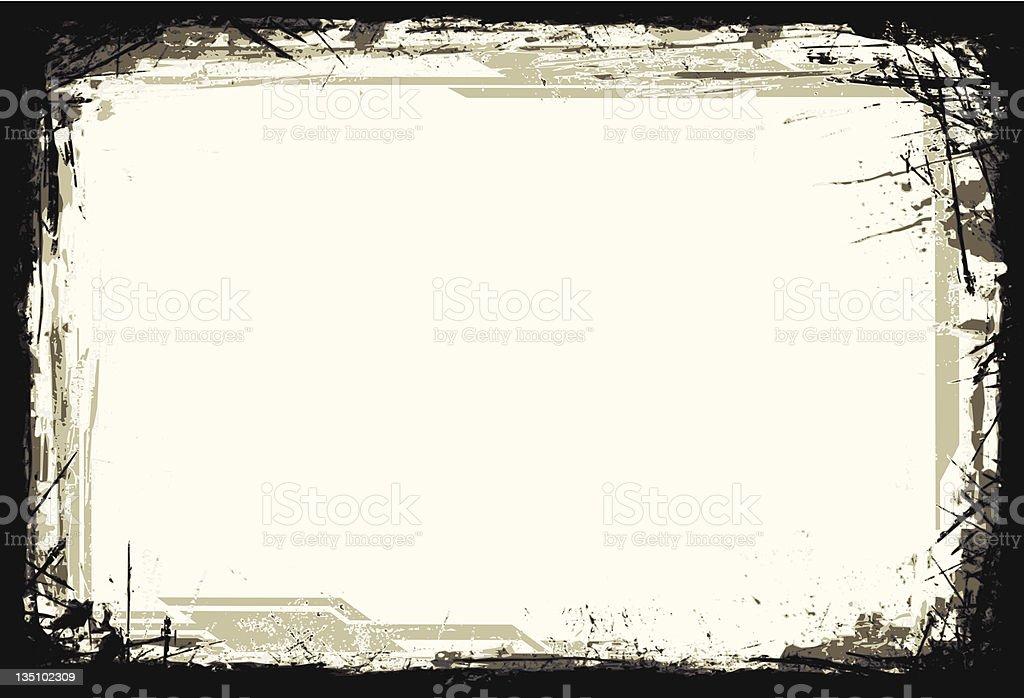 Abstract Background - Grunge Frame vector art illustration
