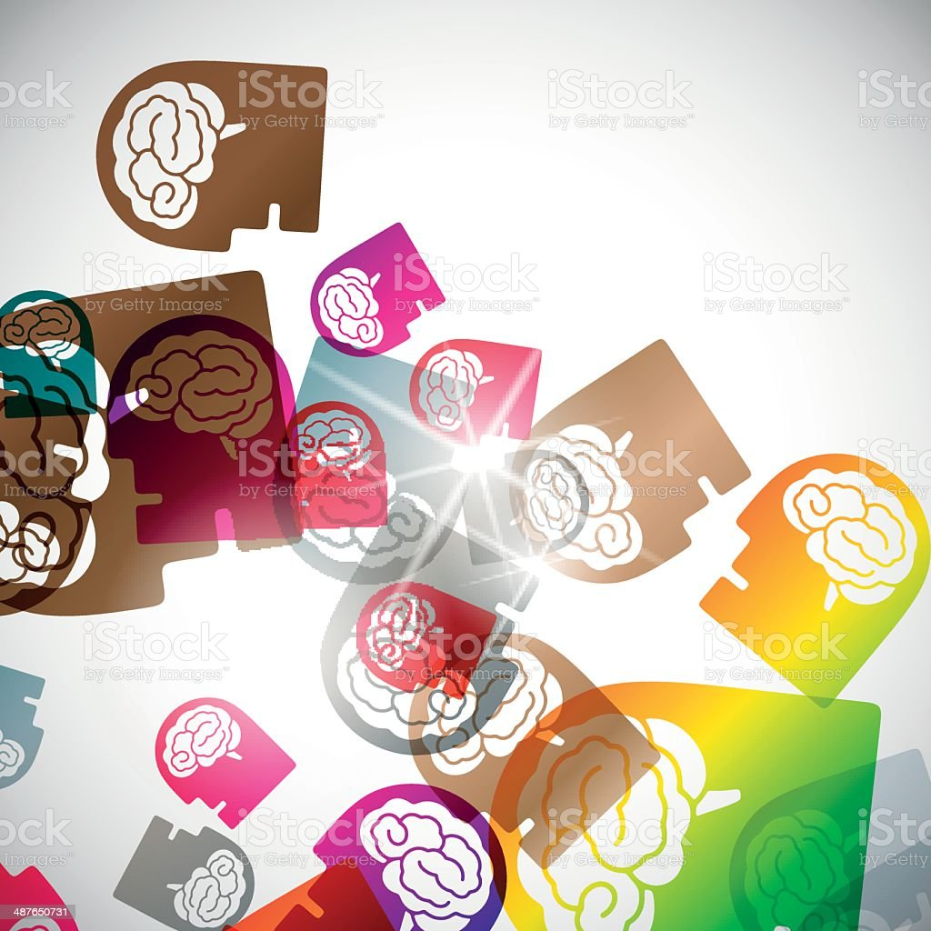abstract background: head royalty-free stock vector art