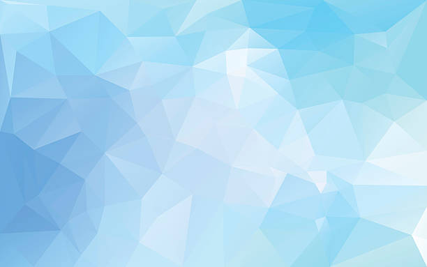 abstract background in blue tones abstract poligonal background in blue tones two dimensional shape stock illustrations