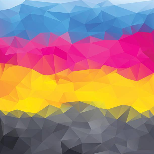 illustrazioni stock, clip art, cartoni animati e icone di tendenza di sfondo astratto con colori cmyk - cmyk