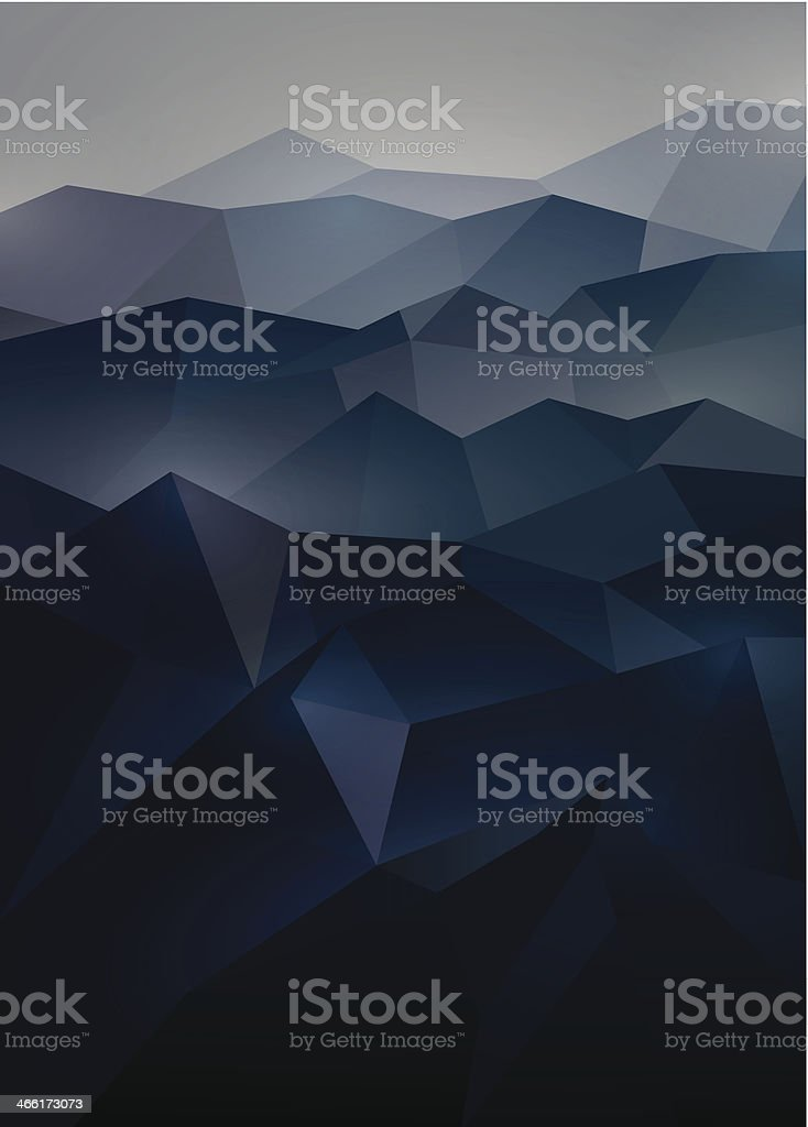 Abstract background in origami style vector art illustration