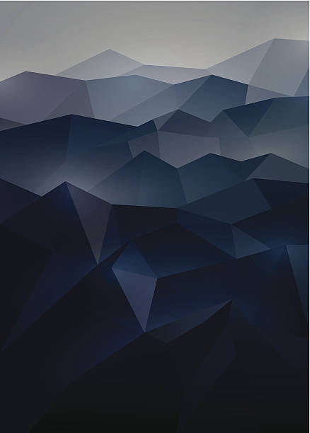 abstract background in origami style - dark blue stock illustrations