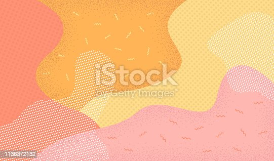 Abstract background in pop art style. retro 80s-90s style. Vector illustration colorful spotty pattern.