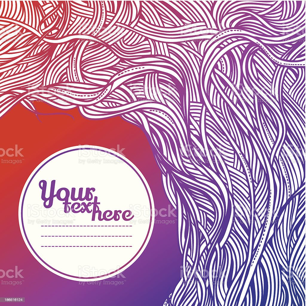 Abstract background in retro style with fantastic roots of trees royalty-free abstract background in retro style with fantastic roots of trees stock vector art & more images of abstract