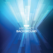 Abstract background in the middle of 3-D geometric lines