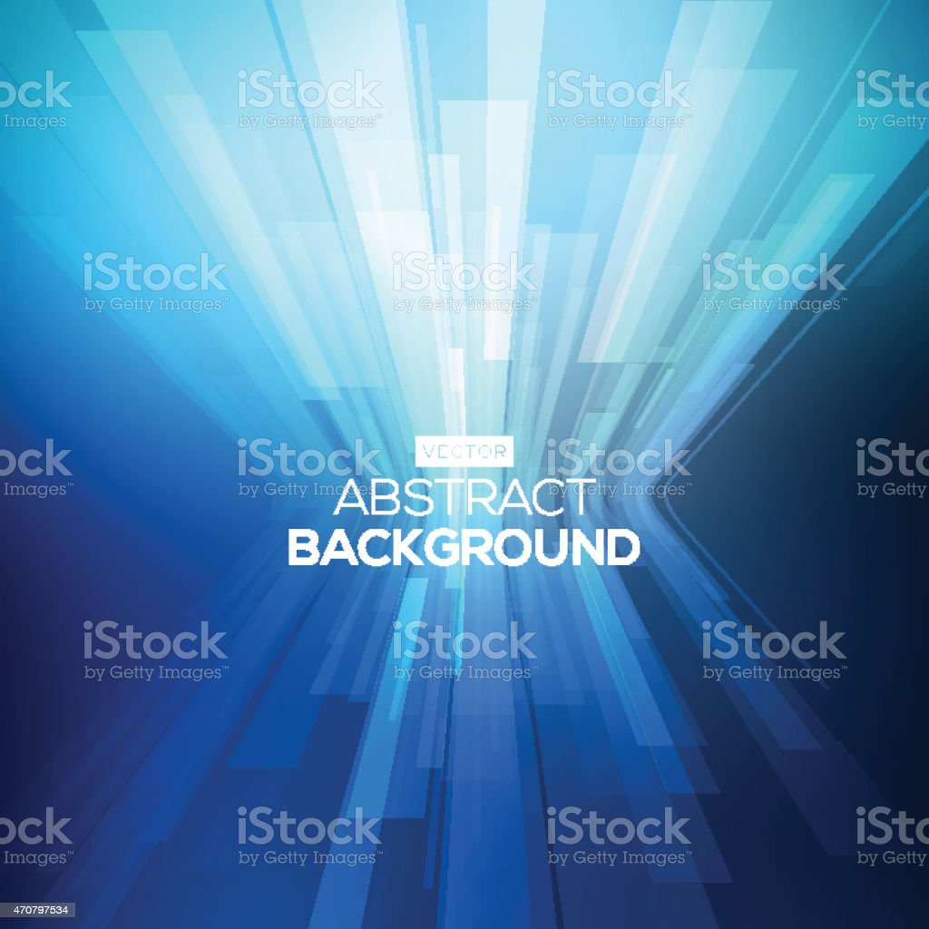 Abstract background in the middle of 3-D geometric lines vector art illustration