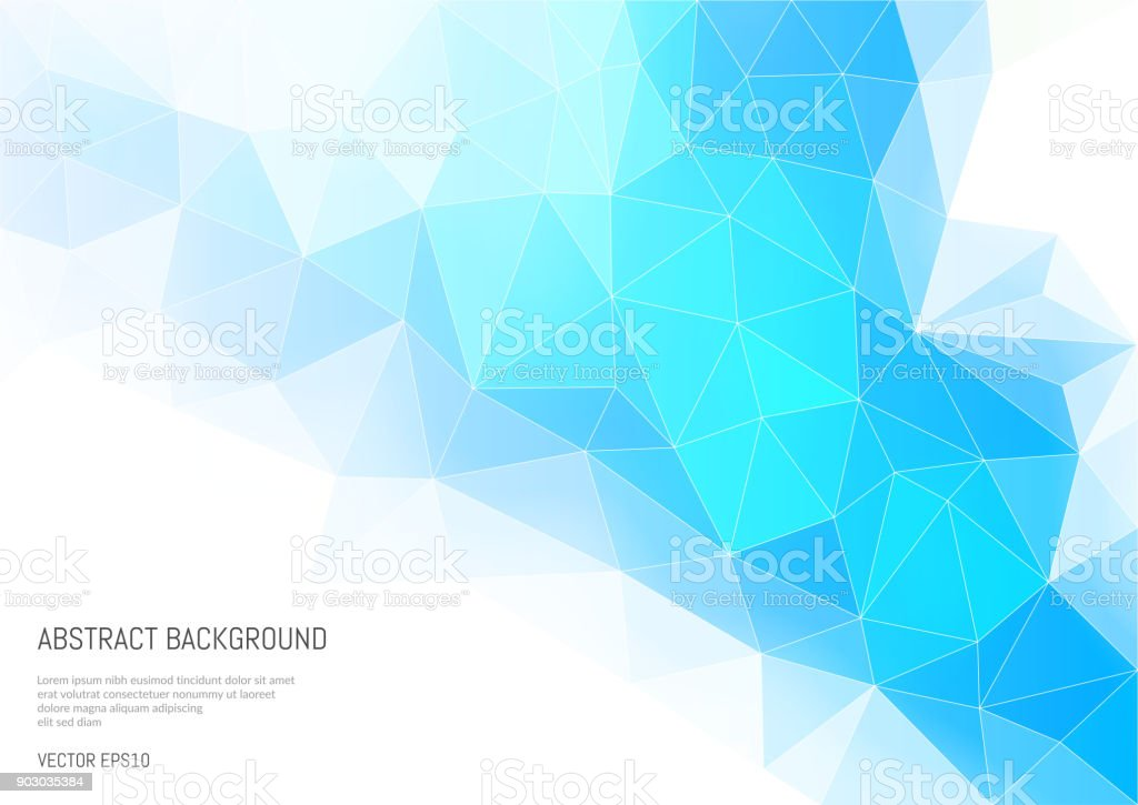 Abstract background in the polygonal style. Convexity and faces of a 3-d shape. vector art illustration