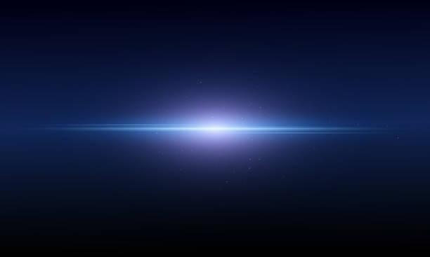 abstrakcyjne tło pokazuje błysk przestrzeni świetlnej. wektor - horyzont stock illustrations