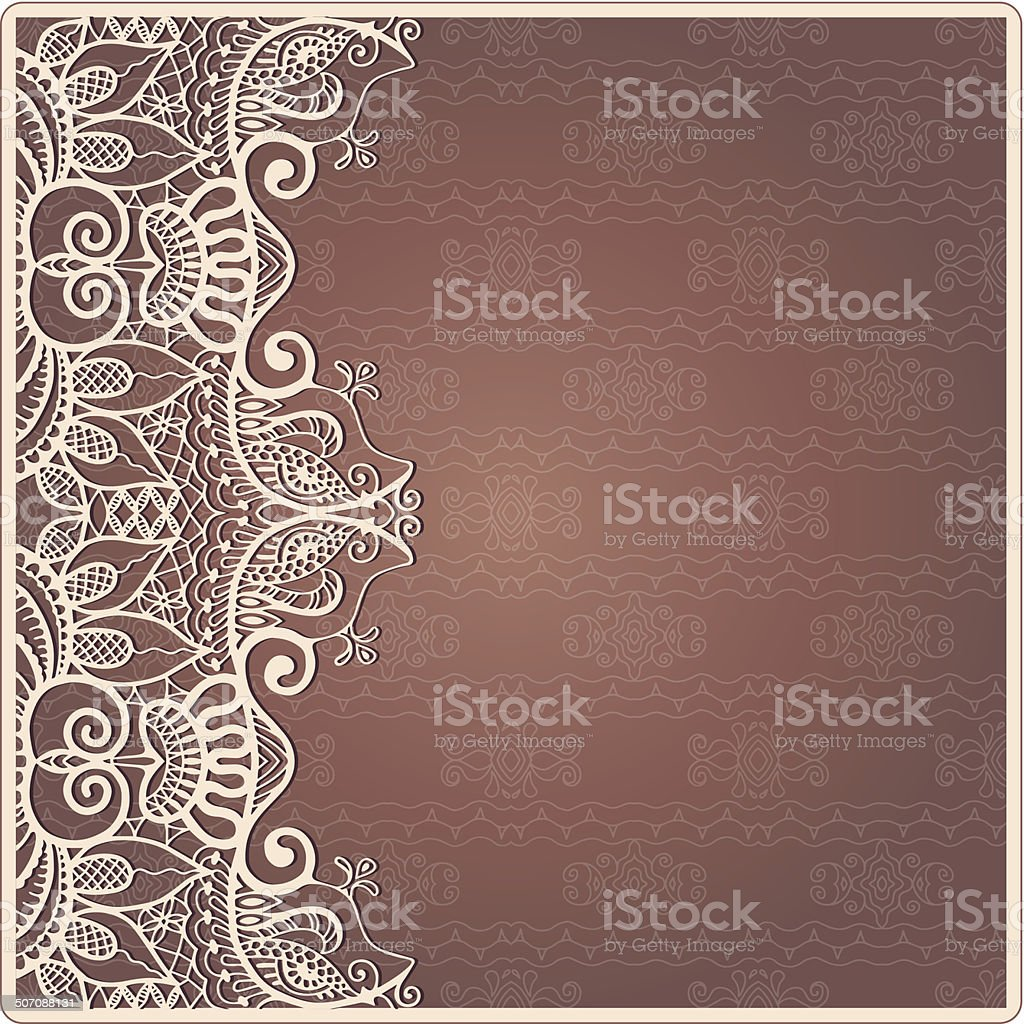 Abstract Background Lacy Frame Border Pattern Wedding Invitation ...