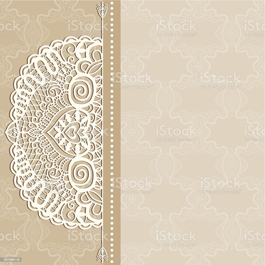 Abstract background lacy frame border pattern wedding invitation abstract background lacy frame border pattern wedding invitation card design royalty free abstract stopboris Choice Image