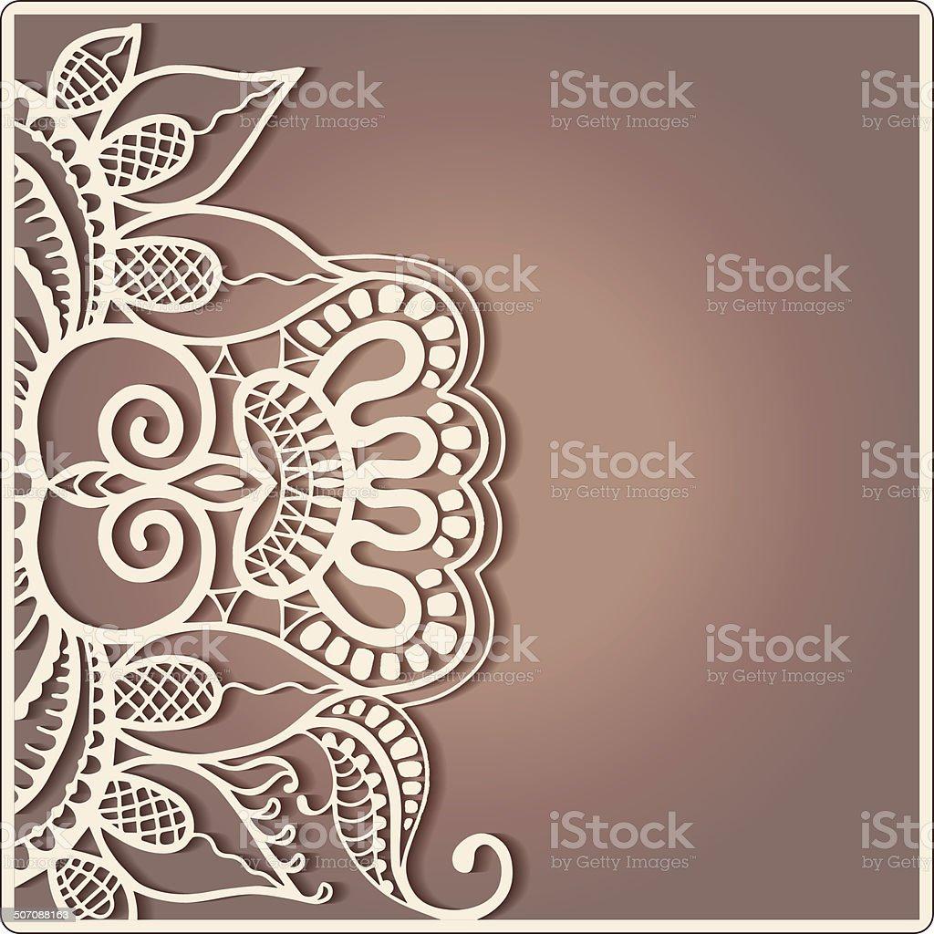 Abstract Background Lacy Frame Border Pattern Wedding Invitation – Invitation Card Border Design