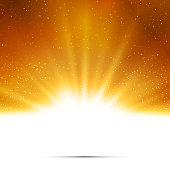 Abstract background. Magic light with gold burst