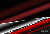 Abstract background. Metallic of red with dark space.