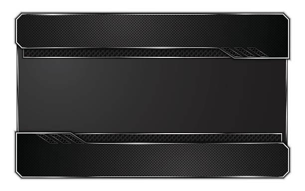 Abstrakter Hintergrund metallic-Stahl Textur frame-design, High-tech-Konzept – Vektorgrafik