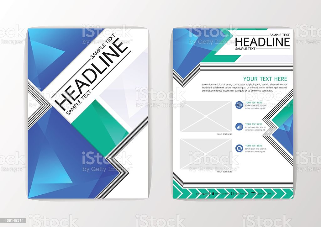 Abstract Background Modern Polygon Design Business Brochure Template