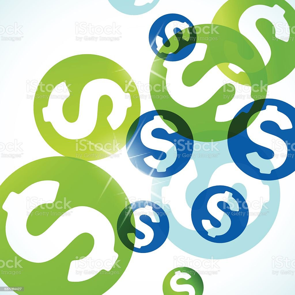 abstract background: money vector art illustration
