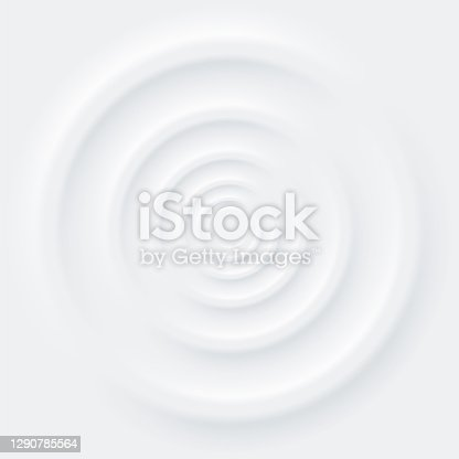 istock Abstract background neomorphism style. Circle shape 1290785564