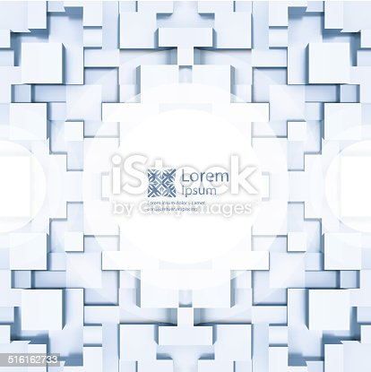 Abstract background of 3d blocks. Vector illustration. With place for text.