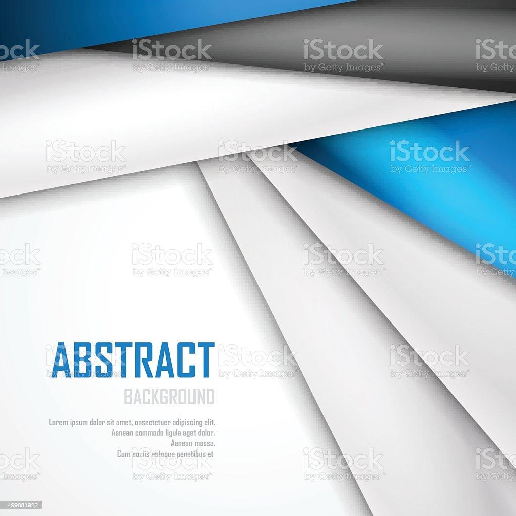 Arriereplan Abstrait De Bleu De Blanc Et De Noir Origami Papier