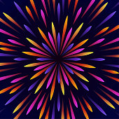 istock Abstract background of colored radial lines 1222096017
