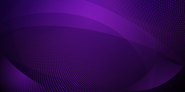 Abstract background of halftone dots and curved lines