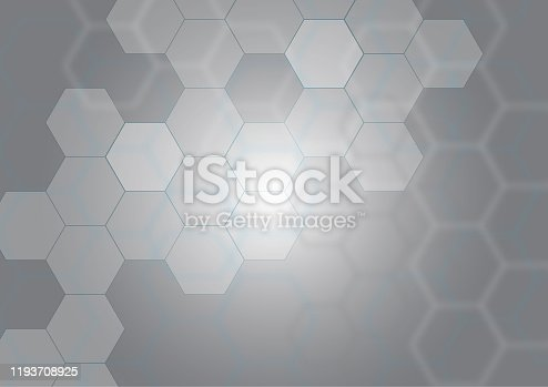 istock Abstract background of hexagons pattern 1193708925