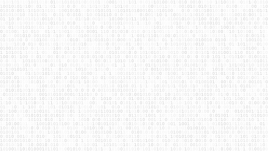 Abstract background of ones and zeros