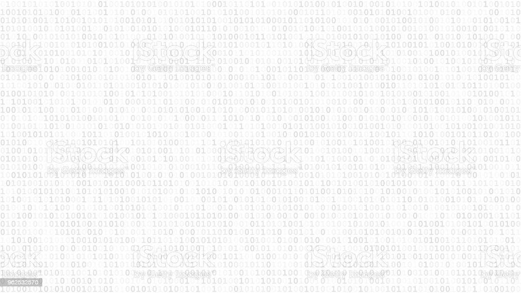 Abstract background of ones and zeros - illustrazione arte vettoriale