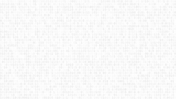 abstract background of ones and zeros - algorithm stock illustrations