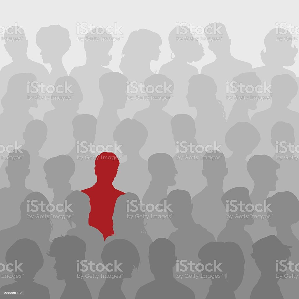 Abstract background of people silhouettes vector art illustration