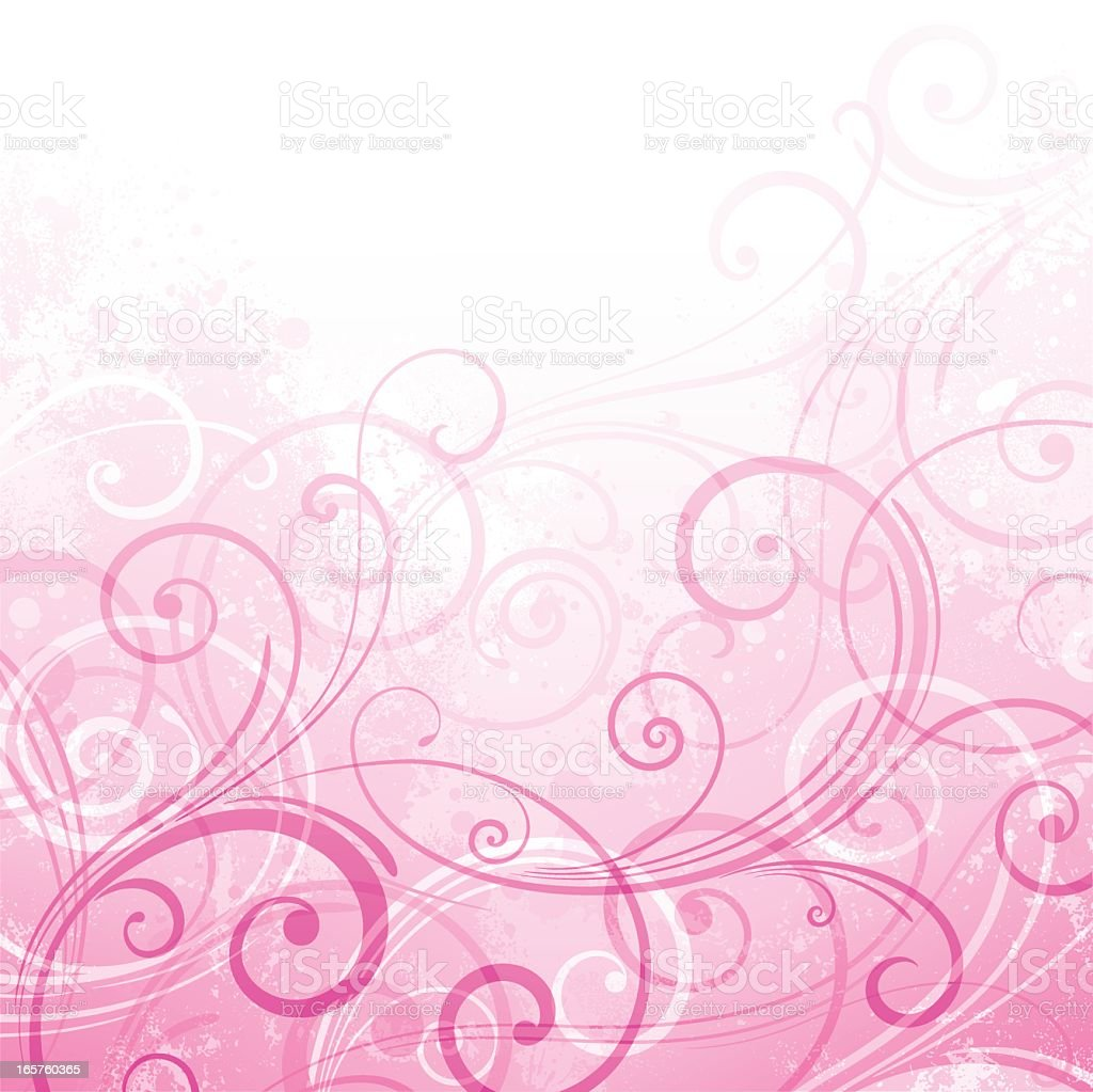 abstract background of pink and white swirls stock vector