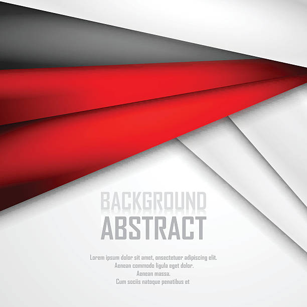 Abstract background of red, white and black origami paper. vector art illustration
