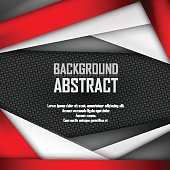 Abstract background of red, white and black origami paper. Vector illustration. EPS 10