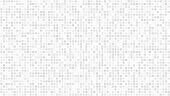Abstract light background of small squares or pixels in white and gray colors.
