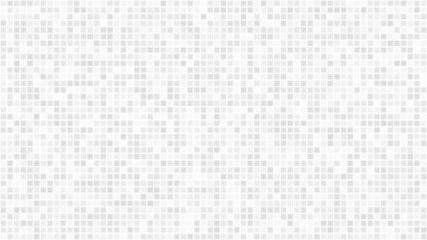 Abstract background of small squares Abstract light background of small squares or pixels in white and gray colors. square composition stock illustrations
