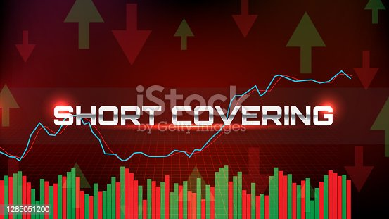 istock abstract background of Stock market crash graph short covering with stochastic oscillator 1285051200