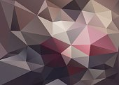 Abstract vector background of triangles polygon wallpaper. Web design in brown red colors
