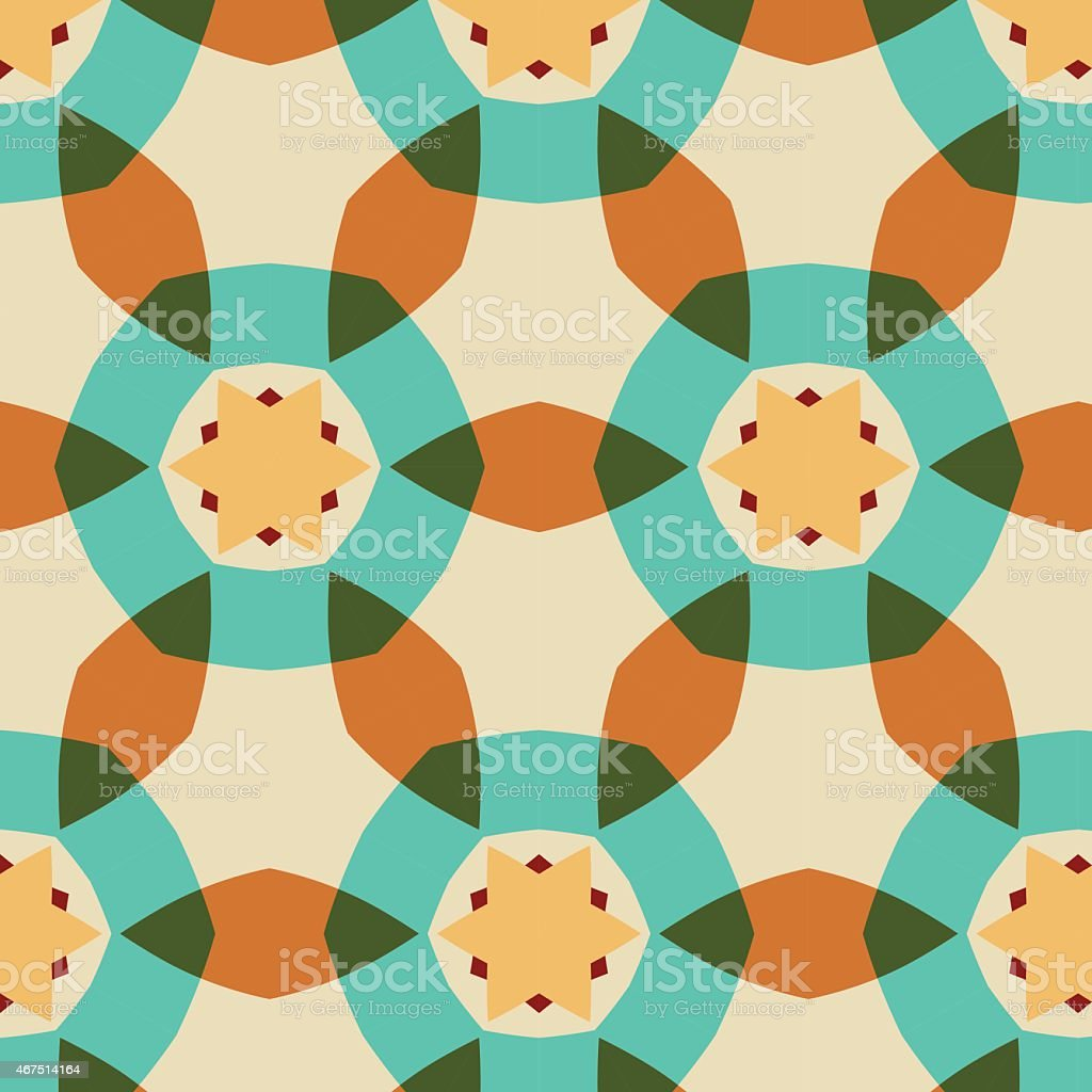 Abstract background ornament geometric vintage seamless vector art illustration