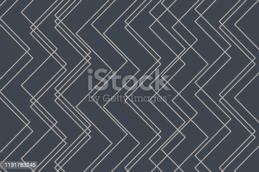 Abstract background pattern made with zigzag lines. Decorative and modern vector art in grey color.