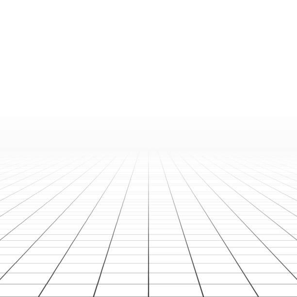 zusammenfassung hintergrund. perspektive fliesenboden. - gitter stock-grafiken, -clipart, -cartoons und -symbole
