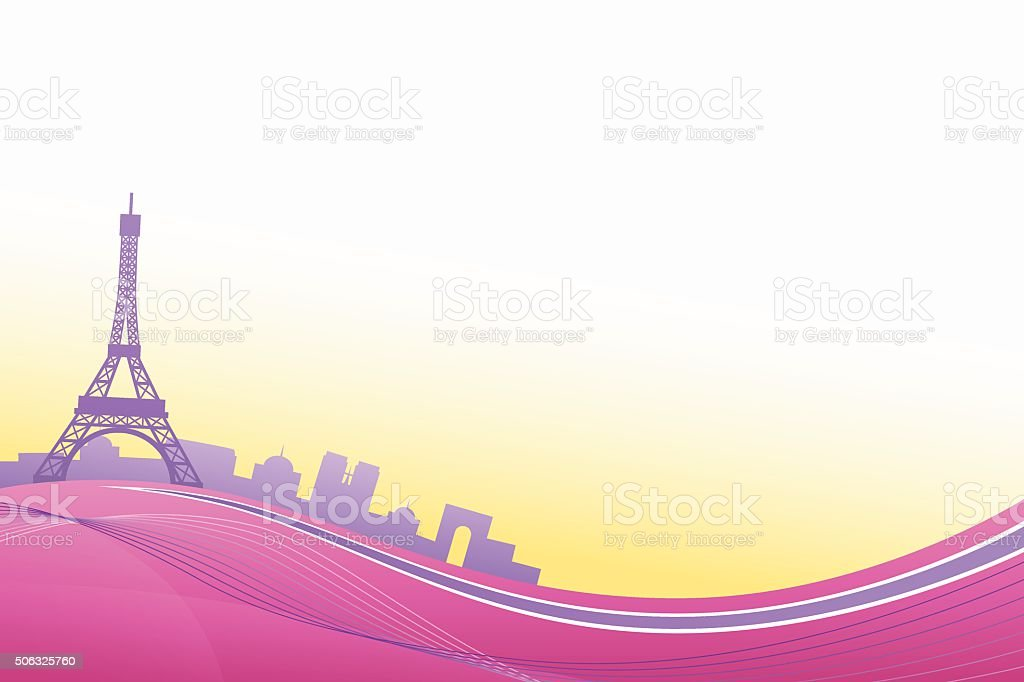 Abstract Background Pink Violet Paris Eiffel Tower Travel Frame ...