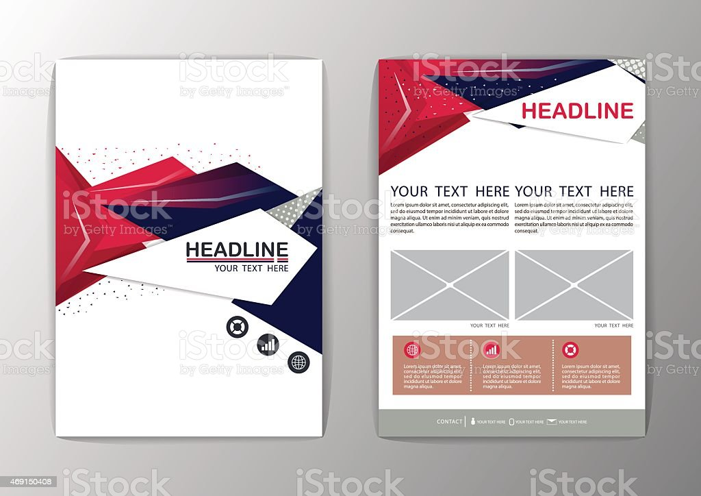 Abstract Background Polygon Design Business Corporate Brochure - Free corporate brochure templates